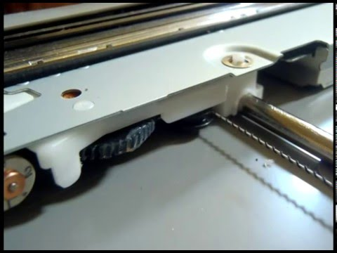 How To Open Canon Scanner Glass