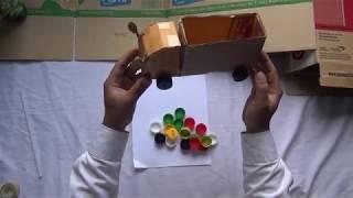 Hướng dẫn làm ôtô bằng giấy bìa  handmade  làm đồ chơi
