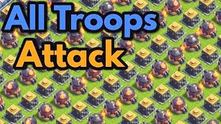 All  MAX Troops Attack COC | All MAX Troops Attack Clash of clans #17