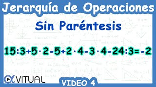Jerarquía De Operaciones Sin Paréntesis Video 4 Youtube