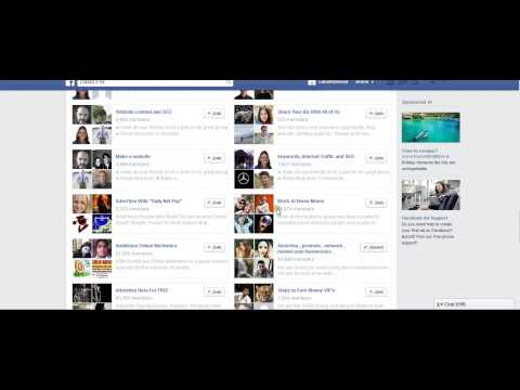 How to find thousands of large facebook groups