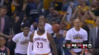 Kyrie and LeBron Connect for Off the Glass Alley-Oop | May 1, 2017
