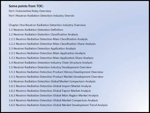 Neutron Radiation Detection Market Research Report 2016