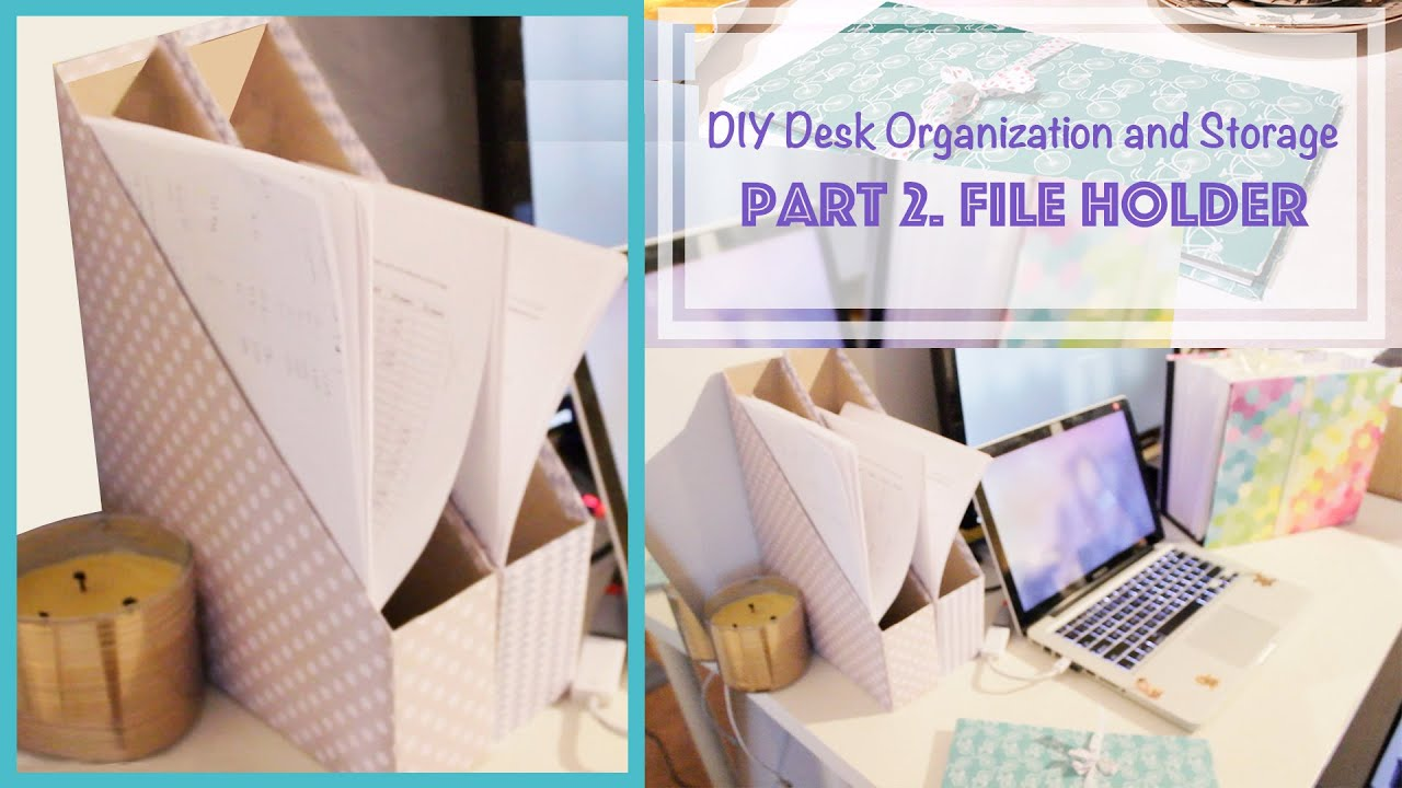 diy magazine holder from cereal box desk organization and storage ideas 2 youtube. Black Bedroom Furniture Sets. Home Design Ideas