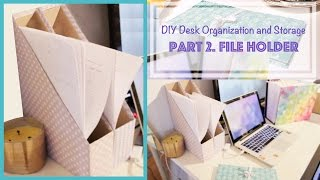 Diy Magazine Holder From Cereal Box - Desk Organization And Storage Ideas (2)