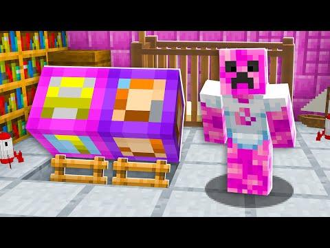 I Found Baby Preston's Girlfriend's SECRET House  Minecraft