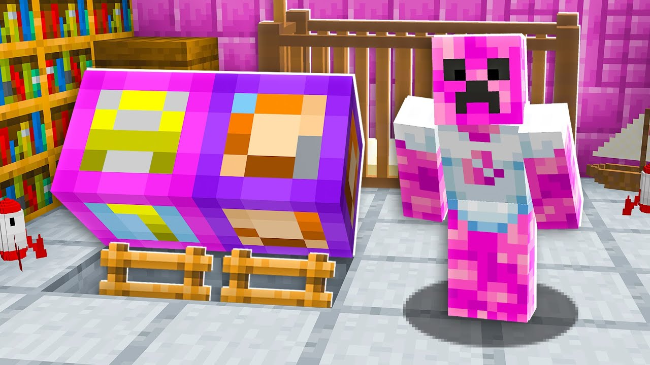 I Found Baby Preston U0026 39 S Girlfriend U0026 39 S Secret House - Minecraft