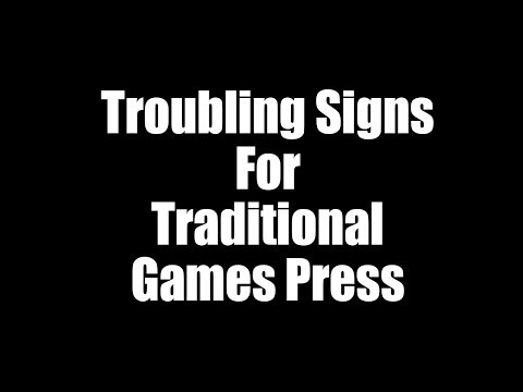 Signs of Conventional Games Journalism Being In Trouble
