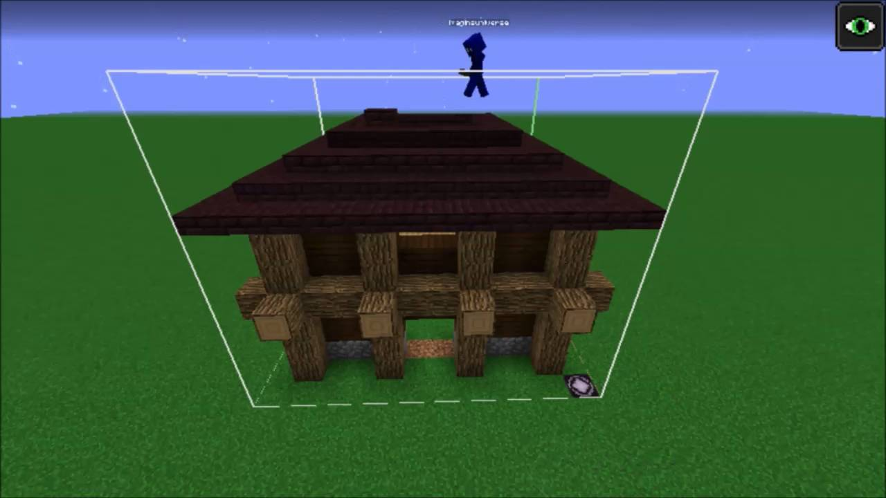 Minecraft Build: Lumberjack House (idea by reddit user SendineisTheParadox)