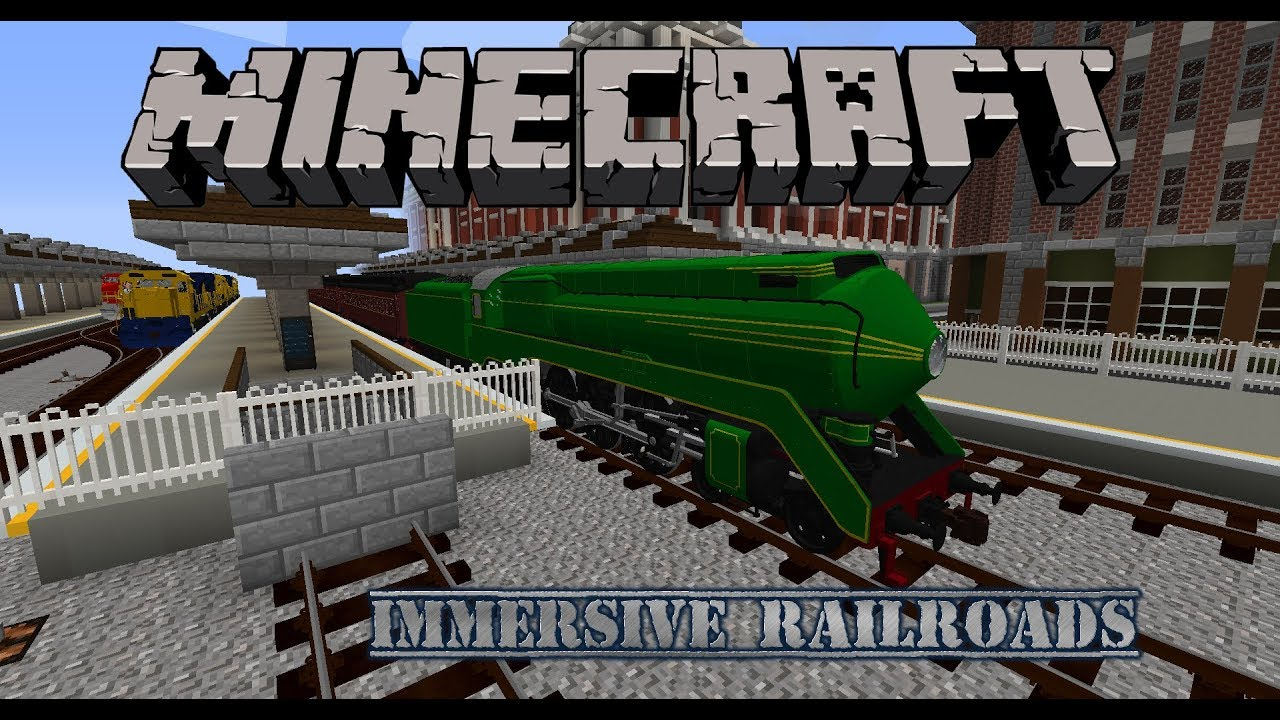 Minecraft - Immersive Railroading - A bit of a teaser