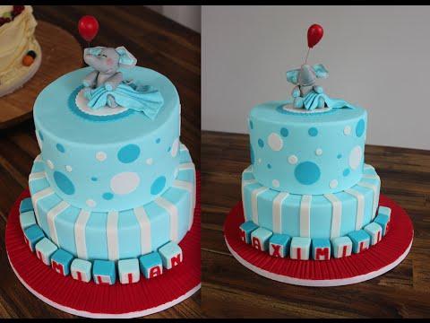 zweistckige Torte zur Taufe  Baptism Cake  Tauftorte