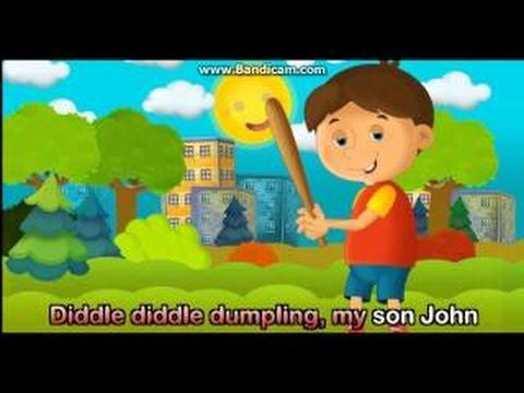 Nursery Rhymes Diddle Diddle Dumpling My Son Sitting new
