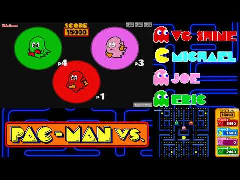 Let's Play Pac-Man VS (4-Players) Part 5: Manic Manor