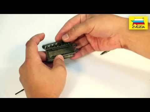 видео: Сборка модели Т-72 без клея. Масштаб 1/100.