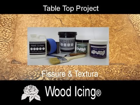Wood Icing® Table Top Project with Textura and Fissure Part One & Two
