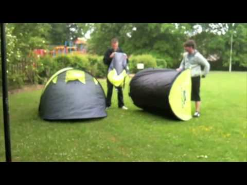 Time Lapsed Tent Erecting And Dismantling - Pop up easy pitch Festival tent & Time Lapsed Tent Erecting And Dismantling - Pop up easy pitch ...