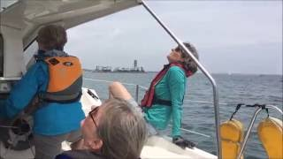 Women sail Gemini catamaran to Catalina Island
