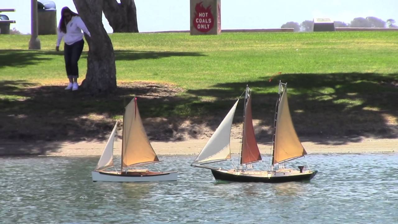 Schooner Sailing On San Diego Model Yacht Pond Youtube