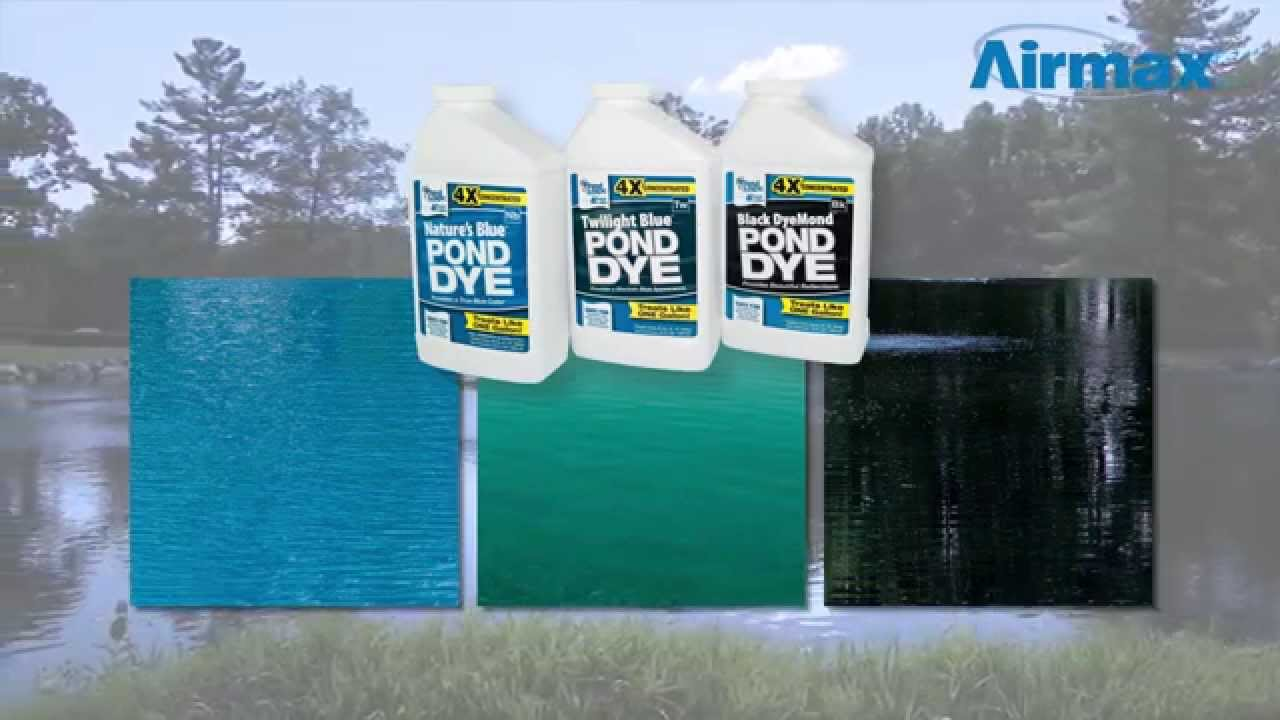 Airmax product video pond logic pond dye youtube for Blue pond dye
