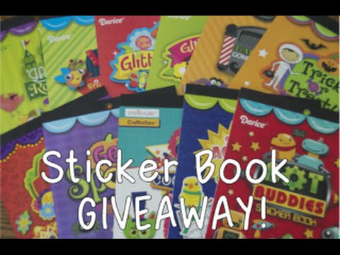 darice sticker book collection giveaway july 2015 youtube. Black Bedroom Furniture Sets. Home Design Ideas