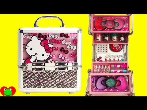 Hello Kitty Cosmetics Kids Makeup Set with Nail Polish and Lip Gloss