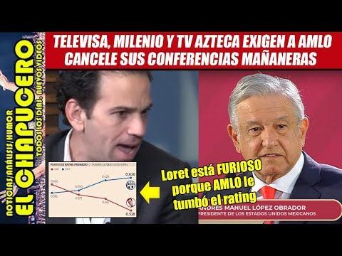 Televisa exige a AMLO cancelar conferencias mañaneras porque tumbaron sus ratings