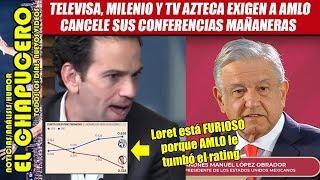 Televisa exige a AMLO cancelar conferencias mañaneras porque tumbaron sus ratings thumbnail