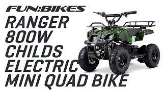 Product Showcase: FunBikes Ranger 800w Camo Childs Electric Mini Quad Bike