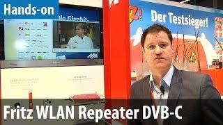 Neues vom Fritzbox-Hersteller auf der IFA 2014: Fritz WLAN Repeater DVB-C ausprobiert
