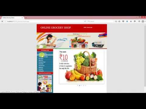 ASP.NET C# Online shopping cart project