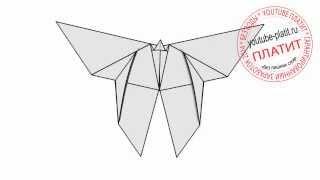 Как ребенку нарисовать бабочку из бумаги карандашом(Как нарисовать бабочку поэтапно простым карандашом за короткий промежуток времени. Видео рассказывает..., 2014-06-29T07:22:02.000Z)