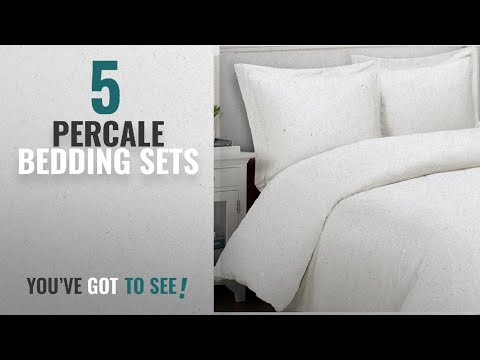 Top 10 Percale Bedding Sets [2018]: Vivendi 400 Thread Count Cotton Percale Duvet Cover Set, King,