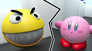 Pacman vs Kirby - Pacman and Kirby fighting together