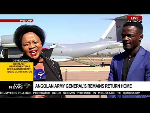 Angolan army general's remains return home