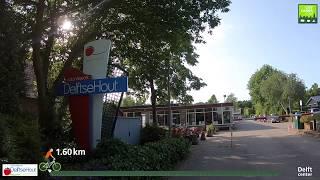 Fietsroute van Vakantiepark Delftse Hout naar Delft