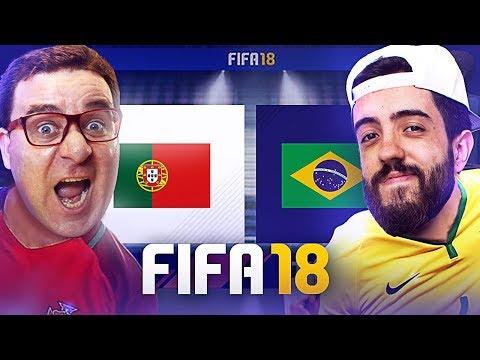 FIFA 18 GAMEPLAY | RIC vs PATIFE | PORTUGAL vs BRASIL
