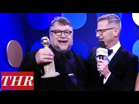 Guillermo del Toro 2018 Golden Globes Backstage Interview After His First Win! | THR