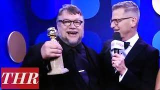 Guillermo del Toro 2018 Golden Globes Backstage Interview After His First Win!   THR