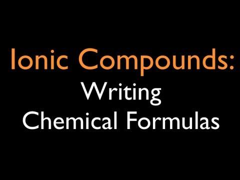 how to write a chemical formula