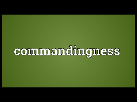 Header of commandingness