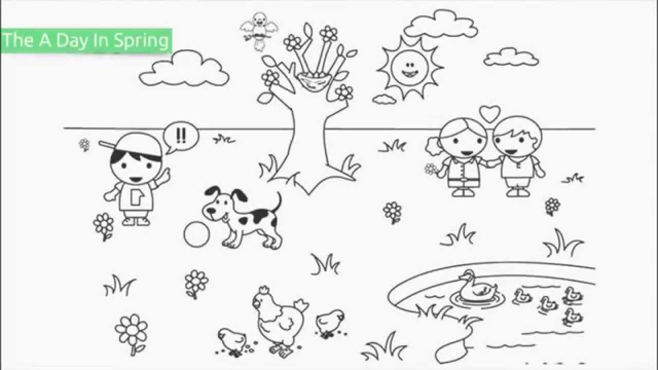 top 10 free printable spring coloring pages youtube