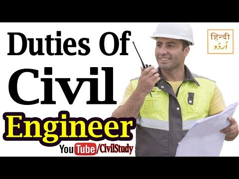 Duties Of Civil Engineer In Building Construction Site - Civ