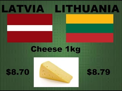 Latvia Vs. Lithuania - Comparison According To Cost Of Living