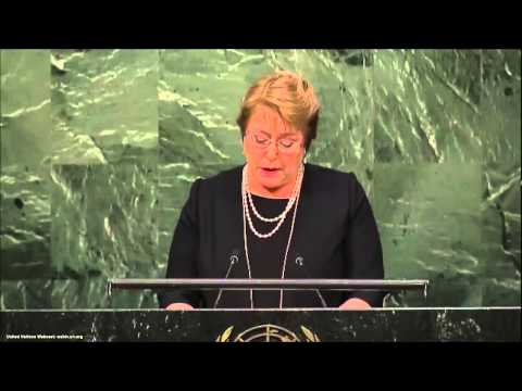 UN Speeches: Chilean President Michelle Bachelet