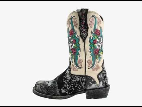 Ariat Rodeobaby Relic Boot - YouTube