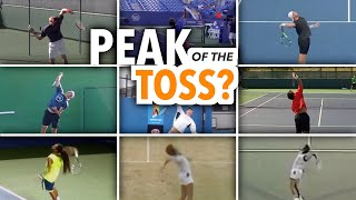 Should you hit your tennis serve at the PEAK of the toss?