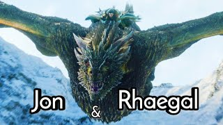 Jon Snow learns to ride a Dragon (Rhaegal)   Game of thrones S08E01