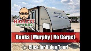 Used 2016 Passport 238ML Murphy Bed Bunkhouse Ultralite Travel Trailer