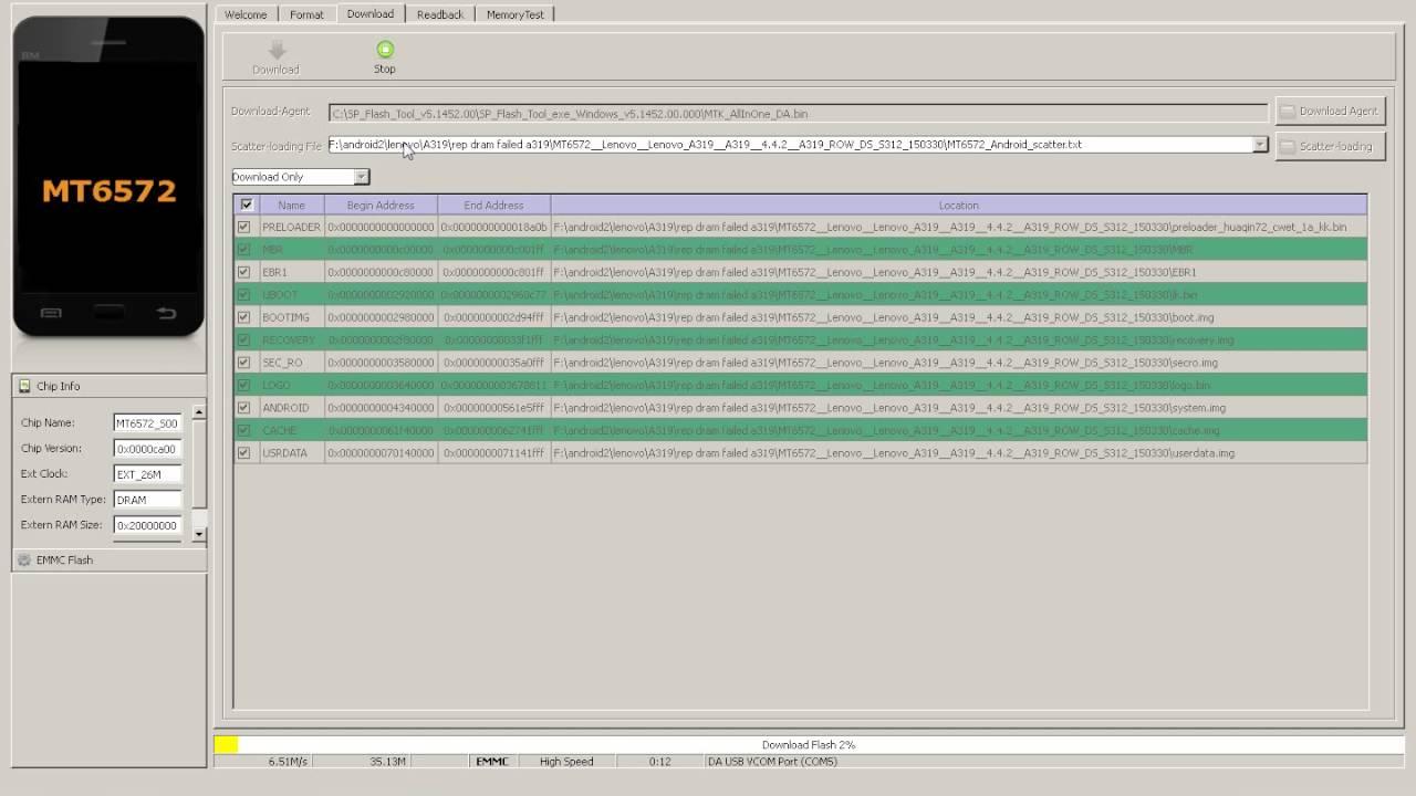 Repair Lenovo A319 DRAM FAIL 4032 by I Have The Power