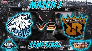 Penonton Bersorak Tuturu Pick Clint !!! RRQ VS EVOS MATCH 1 MPL-ID SEASON 2 SEMI FINAL